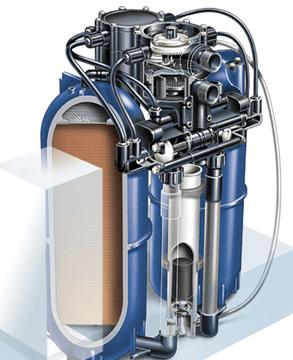 Minimax adoucisseur d'eau avec 2 cylindres